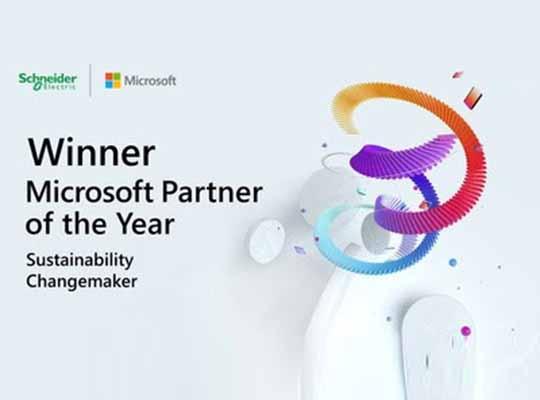 Schneider Electric Winner Microsoft Partner of the Year