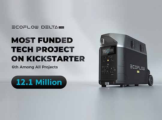 EcoFlow DELTA Pro Most Funded Tech Project
